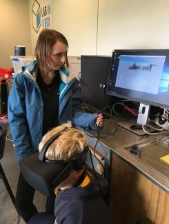 Using virtual reality to visit Antartica